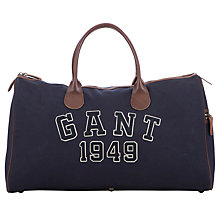 Buy Gant Logo Canvas Holdall Bag, Navy Online at johnlewis.com