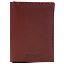 Buy Gant Leather Credit Card Holder, Brown Online at johnlewis.com