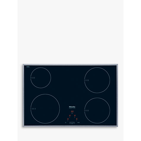 Buy Miele KM6118 Induction Hob, Stainless Steel Online at johnlewis.com