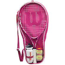 "Buy Wilson Junior Girl's 25"" Tennis Starter Kit Online at johnlewis.com"