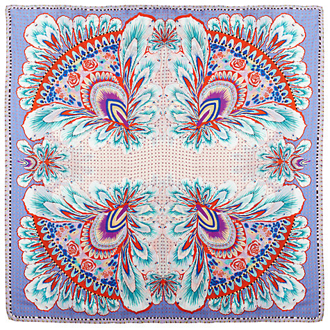 Buy Somerset by Alice Temperley Digital Feather Print Silk Scarf, Multi Online at johnlewis.com