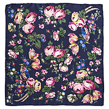Buy Joules Bloomfield Silk Floral Scarf, Navy Online at johnlewis.com