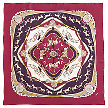 Buy Joules Clarence Silk Square Scarf, Pink Online at johnlewis.com