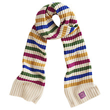Buy Joules Bawdy Striped Chunky Knit Scarf, Multi Online at johnlewis.com