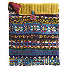 Buy Joules Knitted Fairisle iPad Case, Multi Online at johnlewis.com