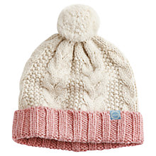 Buy Joules Mable Bobble Hat, Creme Online at johnlewis.com
