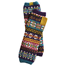 Buy Joules Cailin Fairisle Gloves, Multi Online at johnlewis.com