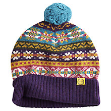 Buy Joules Cailin Fairisle Bobble Beanie, Multi Online at johnlewis.com