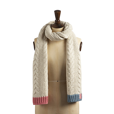 Buy Joules Mable Scarf, Creme Online at johnlewis.com