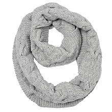 Buy Somerset by Alice Temperley Cashmere Cable Snood, Light Grey Online at johnlewis.com