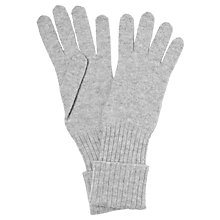 Buy John Lewis Cashmere Long Gloves, Light Grey Online at johnlewis.com