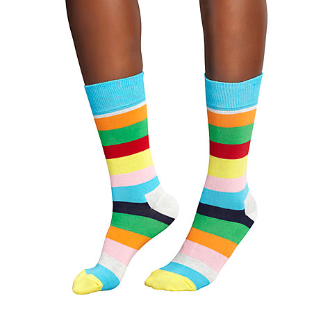 Buy Happy Socks Bold Stripe Ankle Socks, Multi Online at johnlewis.com