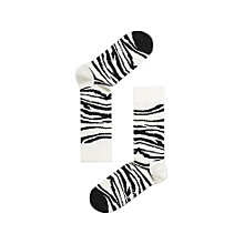 Buy Happy Socks Zebra Socks, Black/White Online at johnlewis.com