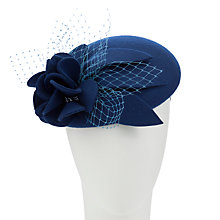 Buy John Lewis Elle Felt Pill Box Occasion Hat, Royal Blue Online at johnlewis.com