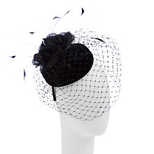 Buy John Lewis Beth Velvet Pill Box Net Fascinator, Black Online at johnlewis.com