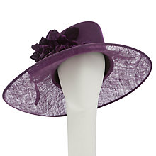 Buy John Lewis Tessa Asymmetric Occasion Hat Cloned, Plum Online at johnlewis.com