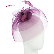 Buy Whiteleys Crin Fascinator Cloned, Grape Online at johnlewis.com