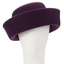 Buy Whiteley Claire Breton Bowler Hat, Plum Online at johnlewis.com