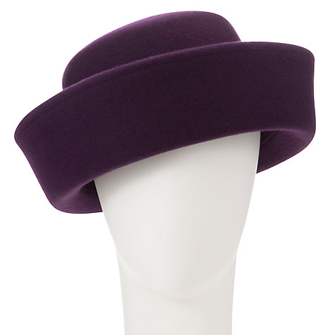 Buy Whiteleys Claire Breton Bowler Hat, Plum Online at johnlewis.com