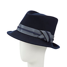 Buy Snoxells Ruby Felt Trilby Hat, Navy Online at johnlewis.com