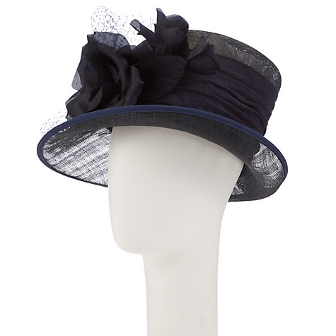 Buy Walter Wright Sophie Side Up Brim Hat, Navy Online at johnlewis.com