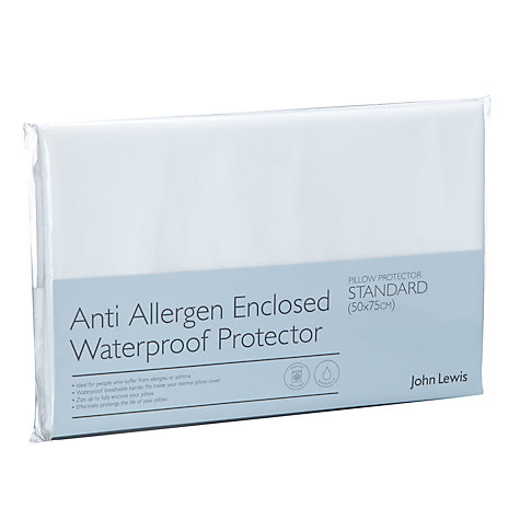 Buy John Lewis Anti Allergen Waterproof Standard Pillow Protector Online at johnlewis.com