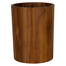 Buy John Lewis Acacia Bathroom Bin Online at johnlewis.com