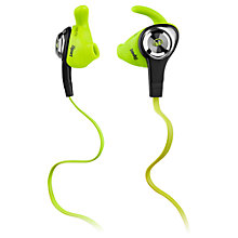 Buy Monster iSport Intensity In-Ear Headphones with ControlTalk, Neon Green Online at johnlewis.com