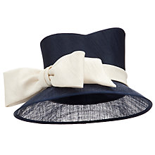 Buy John Lewis Liza Down Brim Occasion Hat, Navy Online at johnlewis.com