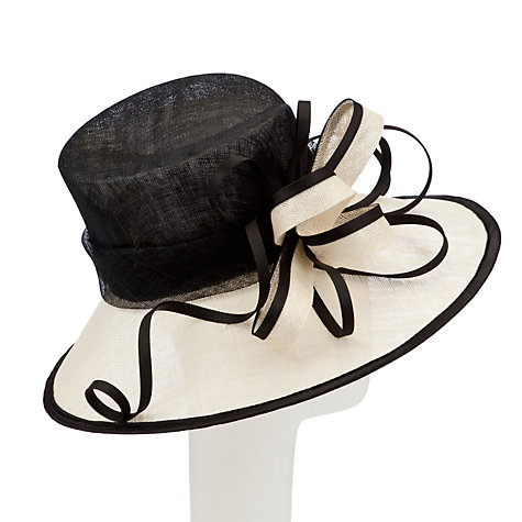 Buy John Lewis Tilly Occasion Hat, Black/Ivory Online at johnlewis.com