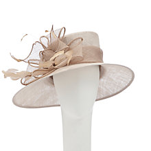 Buy John Lewis Libby Wide Brim Occasion Hat, Champagne Beige Online at johnlewis.com