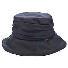 Buy Olney Annabelle Wax Rouched Hat, Black Online at johnlewis.com
