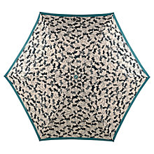 Buy Radley Thames Dog Print Umbrella, Cream/Black Online at johnlewis.com