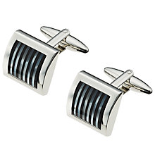 Buy John Lewis Onyx and Mother of Pearl Stripe Cufflinks Online at johnlewis.com