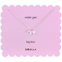 Buy Little Ella Cutie Pie Silver-Plated Necklace Online at johnlewis.com