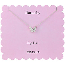 Buy Little Ella Flutterby Silver-Plated Necklace Online at johnlewis.com