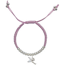 Buy Little Ella Esme Fairy Charm Silver-Plated Bracelet Online at johnlewis.com