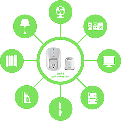Buy Belkin WeMo Switch + Motion Home Automation System Online at johnlewis.com