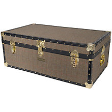 Buy John Lewis Harris Tweed 159L Traditional Steamer Trunk Online at johnlewis.com
