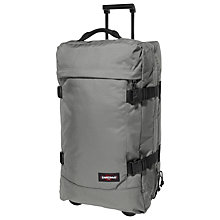 Buy Eastpak Tranverz Medium 2 Wheel Holdall, Rock Grey Online at johnlewis.com