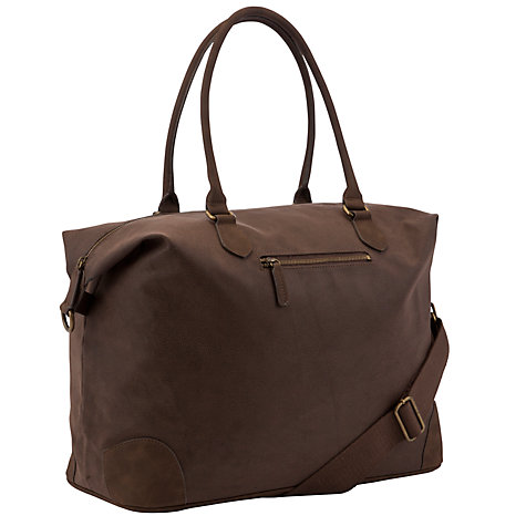 Buy John Lewis Cambridge PU Medium Explorer Bag, Brown Online at johnlewis.com