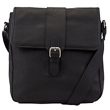 Buy John Lewis Como Buckle Reporter Bag, Black Online at johnlewis.com