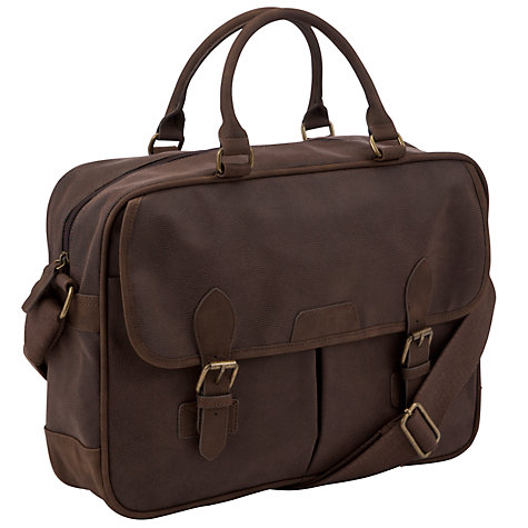 Buy John Lewis Cambridge PU Work Bag, Brown Online at johnlewis.com
