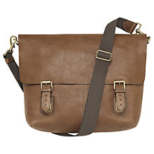 Buy Mulberry Barnaby Leather Messenger Bag, Oak Online at johnlewis.com
