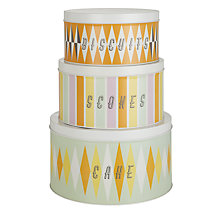 Buy Carnival by Hemingway Cake Storage Tins, Set of 3 Online at johnlewis.com