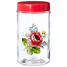 Buy Cath Kidston Kentish Road Storage Jar, Red Online at johnlewis.com