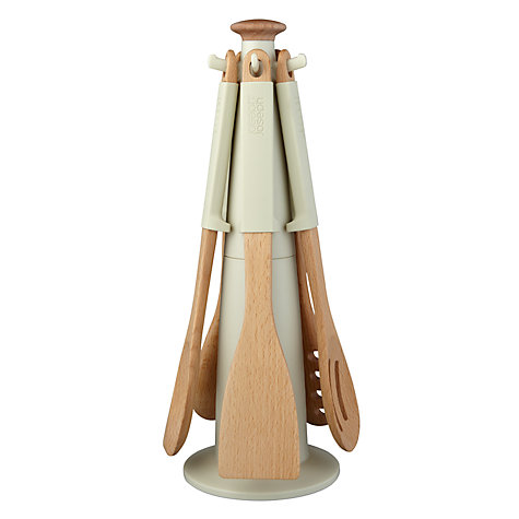 Buy Joseph Joseph Elevate Wooden Kitchen Utensil Carousel, Putty Online at johnlewis.com