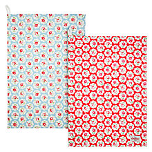 Buy Cath Kidston Provence Rose Tea Towels, Set of 2 Online at johnlewis.com