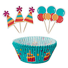 Buy Wilton Celebration Cake Case and Pick Set, 24 Pieces Online at johnlewis.com
