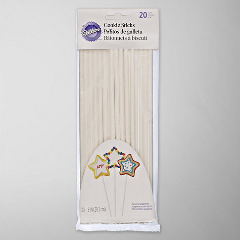 Buy Wilton Cookie and Cake Pop Sticks, 20 Pieces Online at johnlewis.com